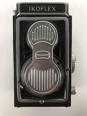 Zeiss Ikon Ikoflex TLR Film Camera And Lens Cover FOR PARTS OR REPAIR ONLY