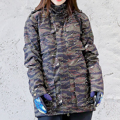 Women Brindle Ski Snow Snowboard Winter Waterproof Jacket  S M L XL XXL