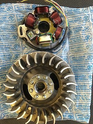 Lambretta Mid Weight Electronic Flywheel and Stator  All Series With GP Crank