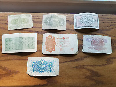 Lot Of 7 Vintage Ww2 Japanese Banknotes ~ 7216