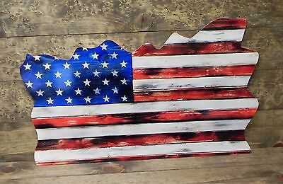 US FLAG3 AL 30x18- US Flag, Patriotic, Armed Service - Steel Sign - PhotoSTEEL