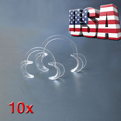 USA STOCK  5 PC Large + 5 PCS Small Dental Retractor Oral Mouth Cheek Opener HUS