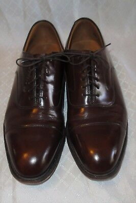 Men's JOHNSTON MURPHY OPTIMA SHOES,USA,Lace-Up Brown Leather Dress Oxfords,10.5