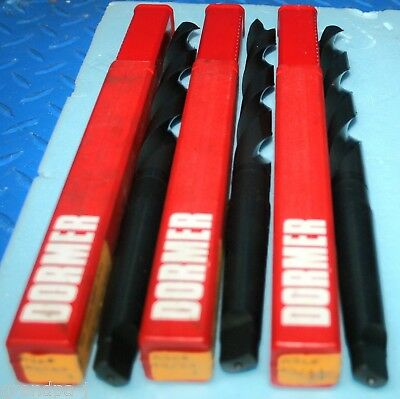 Lot Of 3 New Hhs Taper Shank Drill Dormer 43/64 A360