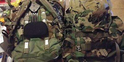 Military Woodland LARGE Ruck Molle II-Complete w/ Interior Frame AMAZING!
