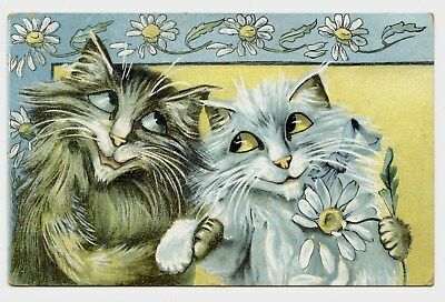 Illustrateur Maurice Boulanger Non Signé Chats Amoureux Cats Lovers Amour