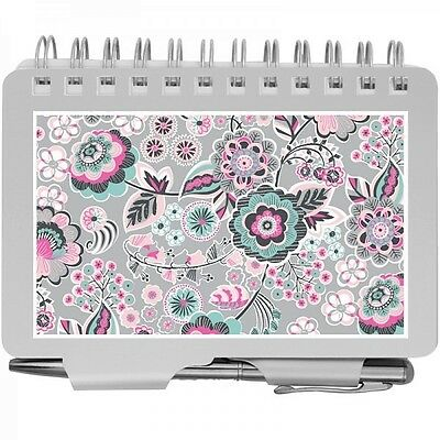 #8538- Wellspring Silver Pink Mint Floral Password Organizer Book With Pen -Wow!