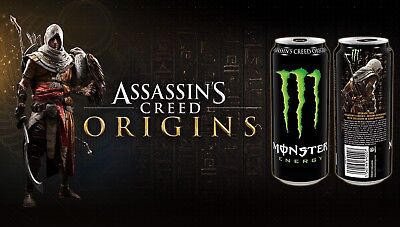10-Pack GAME CODE ONLY for ASSASSIN'S CREED ORIGINS Monster Energy Drink