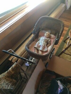 vintage antique baby carriage buggy