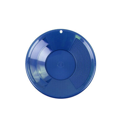 """8"""" BLUE Plastic Gold Pan w/ Shallow & Deep Riffles for Gold Prospecting"""