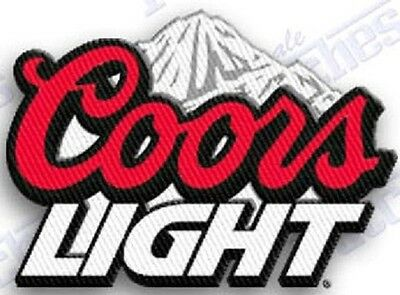 COORS LIGHT Beer  iron on embroidered patch 2.2 X 1.8 INCHES SILVER BULLET BREW