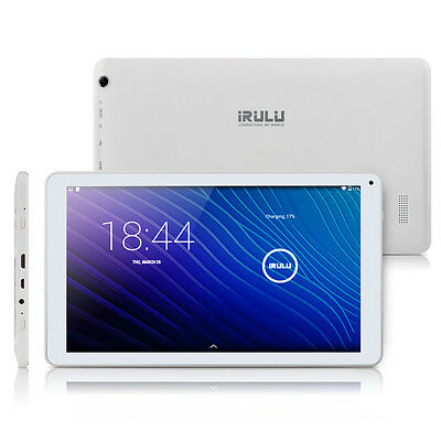 """iRULU 10.1"""" eXpro 2 Plus White Tablet PC Android 5.1 Octa Core 1GB+16GB GMS"""