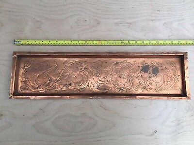 solid copper arts and crafts style tray