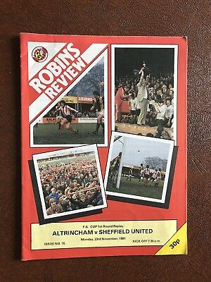 Altrincham V Sheffield United 1981-82