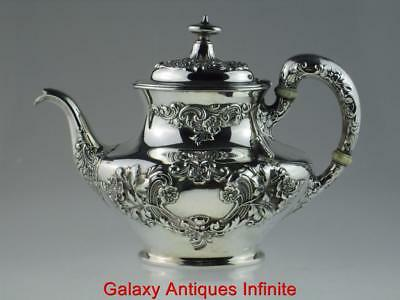 Antique Early 20th Century American Sterling Silver Teapot Circa 1900