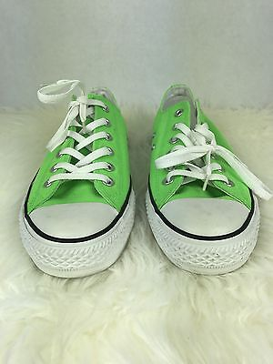 Converse Chuck Taylor All Star Neon Green Low Sneakers Unisex Mens 8 Womens 10