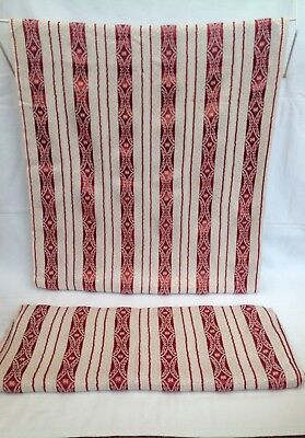 """Vintage Mid Century Red retro Pair Curtains/drapes/material/fabric W41""""xL70"""""""