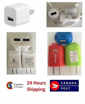 Fast Charger Home Wall Car for iPhone iPad Samsung Tablets LG Blackberry Android