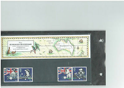 Stamp Set Australian Bicentenary Australia  stamp collecting