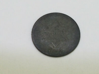 1852 Three Cent Silver Trime 3 Cents Coin - 7310