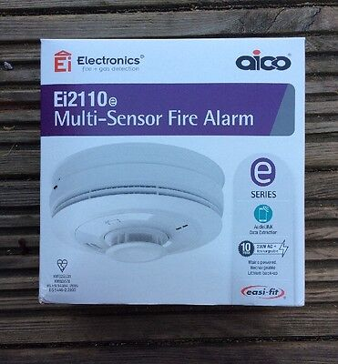 AICO Ei2110E Multi-Sensor Fire Alarm Mains Powered RadioLINK Compatible New