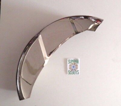 Rear Mudguard, Polished Stainless Steel.suitable For Series 3 Lambretta Scooters