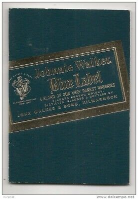 WHISKY - rare JOHNNIE WALKER Blue Label - Miniature Book 3 x 4 inches - 10 pages
