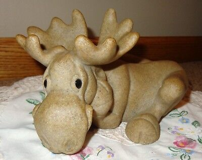 Vintage 2001 Second Nature Designs Quarry Critters Madison Moose Figurine 48131