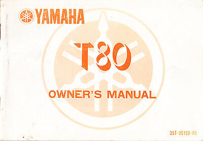 Yamaha T80 Owner's Manual (Paperback, 1983)