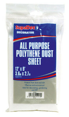 Dust Sheet All-Purpose Polythene Sheet 12ft x 6ft  3.6m x 1.8m SupaDec DS126
