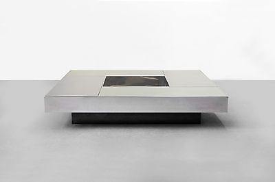 Coffee table WILLY RIZZO 1968 Design Italy 60s 60er Tisch Couchtisch Brutalist