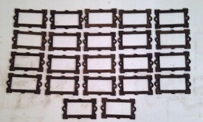 Lot Of Victorian Drawer Plate Hardware Apothecary / File Cabinet 21 Pieces