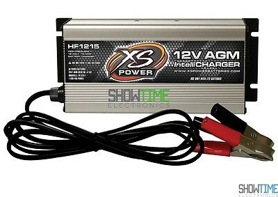 XS Power HF1215 15A 12 Volt Car Audio/Racing High Frequency AGM IntelliCharger
