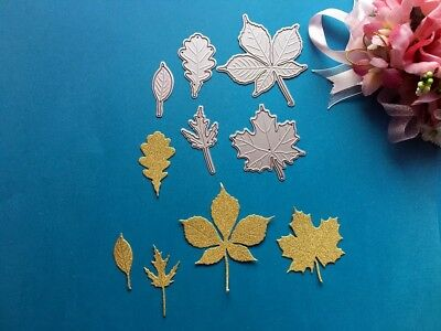 10 x Handmade Embroidered Leaves Leaf Gardening Arts Card Making Motif #18A81