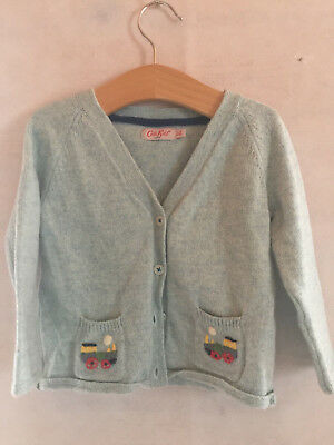 Cath Kidston Train Cardigan - 12-18 Months - Grey/Green
