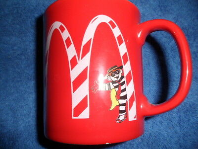 Red Collectible Hamburgler McDonald's Coffee Cup Mug - Rare
