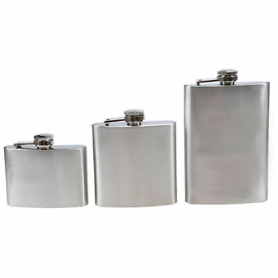4/6/9 oz Stainless Steel Hip Flask Drink Wine Liquor Whiskey Alcohol Flagon Gift