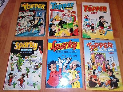 Collection of Vintage Sparky & Topper Annuals : Great Condition
