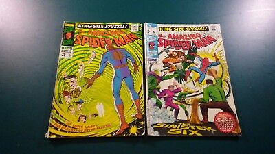 9 Spider-Man, Avengers, X-Men, Daredevil, & Sgt. Fury 1967-1971 King-Size Comics