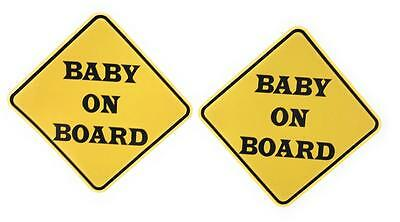 "Baby on Board Vinyl 6 1/4"" Auto Window Decal Sticker for your Baby's Safety"