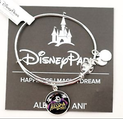 NEW Disney Parks ALEX AND ANI Mickey Halloween Party 2017 Silver Bracelet MNSSHP