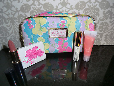 Makeup Lot & Bag - Estee Lauder, Lancome Mascara, Lipstick, Eyeshadow, Lipgloss