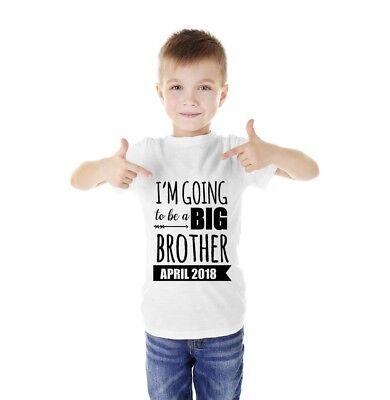 Pregnancy Announcement Kids Tshirt I'm Going To Be A Big Brother Tshirt