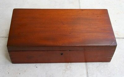 Antique Handmade Dovetailed Wood Jewelry Dresser Box