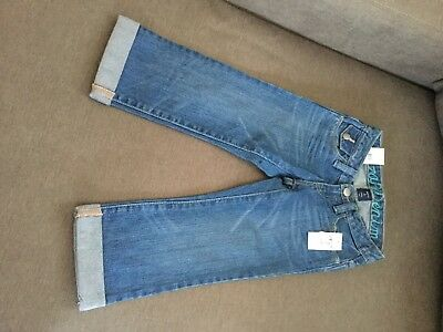 Gap Kids Girls 6 Slim - NWT- Denim Mid Calf Capri Jeans Pants- Cute