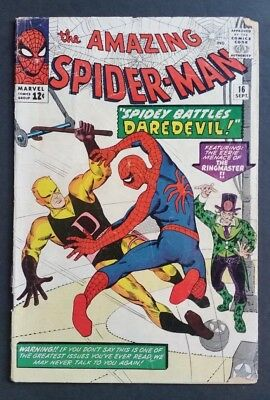 Amazing Spider-Man #16 • 1St Daredevil Crossover • Good+ (2.5) • Homecoming