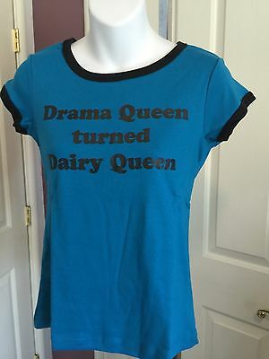NWT Nursing Shirt Short Sleeve Drama Queen Turned Dairy Queen XS Small Med Large