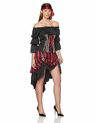 California Costumes Women's Pirate Wench Adult, Black/Burgundy, Small