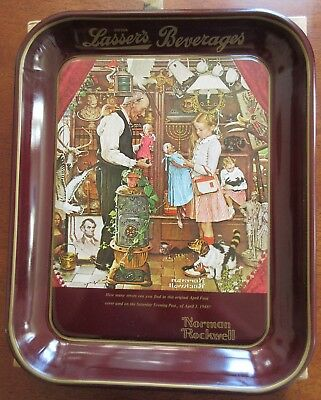 1976 Lasser's Beverages Norman Rockwell April Fool's Day Tray