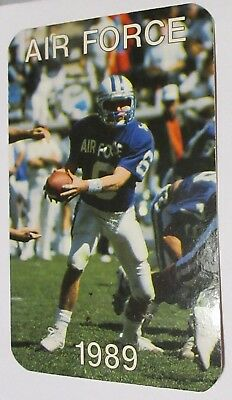 1989 Air Force Football Schedule Dr Pepper Trading Card - Dee Dowis